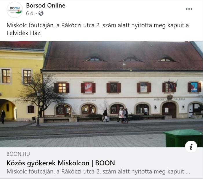 A miskolci Észak-Magyarország bemutatta a Felvidék Házat