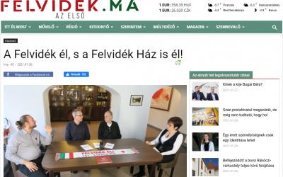 A Felvidék.ma hírportál is bemutatta Házunkat