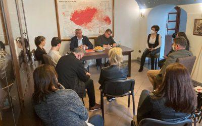 """A Felvidék Házban tartották """"évadnyitó"""" szakmai megbeszélésüket a Magyar Házak munkatársai"""